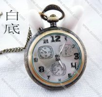 Vintage Lighting Pocket Watch with White Face - PW000012-W