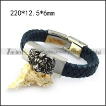 Lion Head Leather Bracelet b005839