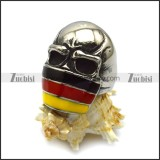 Skull Ring with Germany Flag Tone r005138