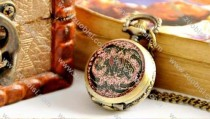 Elephant Pocket Watch with long chain -PW000120-2