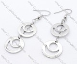 Sun and Moon Stainless Steel earring - JE050136