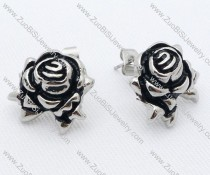 Metal Rose Stainless Steel earring - JE050025