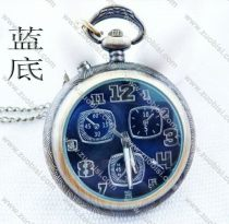Vintage Lighting Pocket Watch with Blue Face - PW000012B