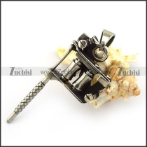 Stainless Steel Tattoo Gun Pendant p004054
