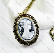 Antique Bronze Lady Pocket Watch -PW000246