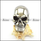 High Polishing Huge Skull Ring with Solid Back r004916