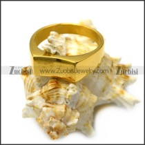 gold plating simple blank signet ring for elegant lady r005409
