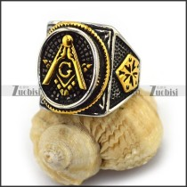 Vintage Gold Masonic Ring r003615