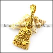 Gold Plated Bodhisattva Pendant p004925