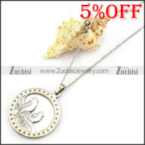 Two Birds Steel Chain Necklace n001329