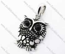Stainless Steel Owl Charm Pendant - JP370010