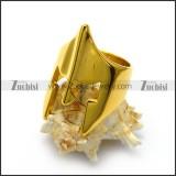 18k gold plating stainless steel spartan helmet ring r005058