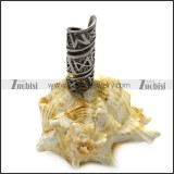 viking stainless steel rune beard bead ring for mens a000596