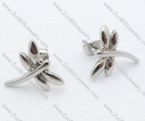 Silver Dragonfly Stainless Steel earring - JE050015