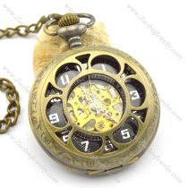 antique brass sunflower mechanical pocket watches pw000411