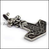Large Viking Pendant with Horn p004232
