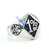 1 percent er skull ring for bikers JR500004