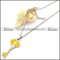 Yellow Epoxy Key Charm Chain n001293