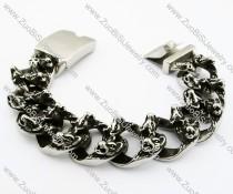 Heavy Stainless Steel Wolf Bracelet - JB200094