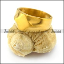 gold plated stainless steel blank signet ring r004687