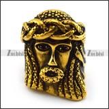 Bling Jewelry Celtic Stainless Steel Mens Jesus Ring for Men r004369