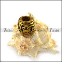 Vintage Gold Plating Steel Bead Charm a000399