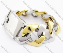 Gold and Silver Plating Mens' Stainless Steel Bracelet - JB200150