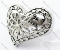 Stainless Steel Casting Heart Ring - JR050045