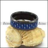 Blue Carbon Fibre Tungsten Ring r003094