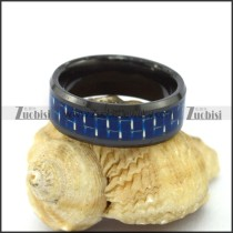 Blue Carbon Fibre Tungsten Ring r003094
