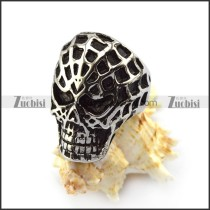 spider web skull ring r004560