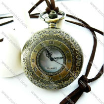 Vintage Roman Number Pocket Watch Necklace Chain - PW000053