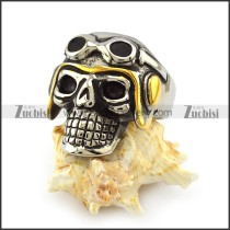 Cool Skull with Dark Glasses Ring r004006