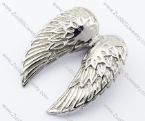 Big Stainless Steel Wing Pendant-JP330052