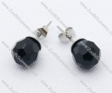 Black Stone Stainless Steel earring - JE050010