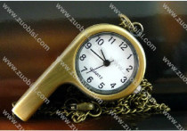 Bronze Whistle Pocket Watch for Trainer PW000286