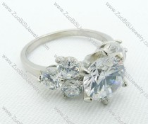 JR220025 Flower Wedding Ring in Steel