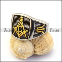 24K Gold Plated Masonic Ring r003633