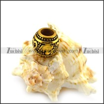 Vintage Gold Big Hole Steel Bead a000411