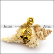 Gold Plating Skull Charms a000144