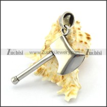 Silver Stainless Steel Axe Pendant p004883
