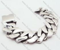 Heavy Stainless Steel Heart Bracelet - JB200015