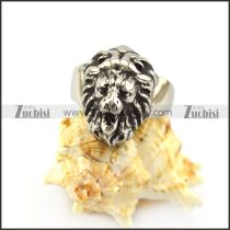 Silver Tone Lion Ring for Unisex r004960
