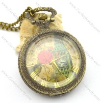 colorful Big Ben pocket watch for lady pw000413
