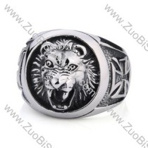 Stainless Steel Lion Ring - JR350099