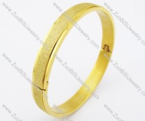 8mm Gold Shimmering Powder Stainless Steel Bangle JB200143
