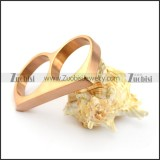 rose gold plated double finger ring for women r004711