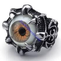 devil evil eye steel ring JR350272