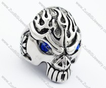 Blue Eyes Stainless Steel skull Ring - JR090280