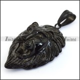 Black Large Lion King Pendant p004233